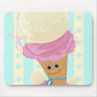 Happy Ice Cream Cone Mouse Pads