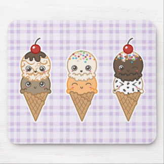 Happy Ice Cream Mousepad Purple