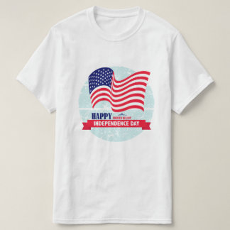Happy Independance Day American Flag Illustration T-Shirt
