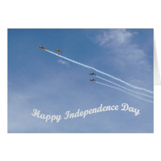 Happy Independence Day Air Show Card Greeting Card
