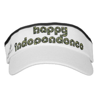Happy Independence Day Army Camouflage Typography Visor