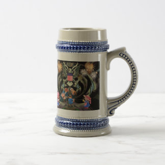 Happy Independence Day Celebration Beer Stein