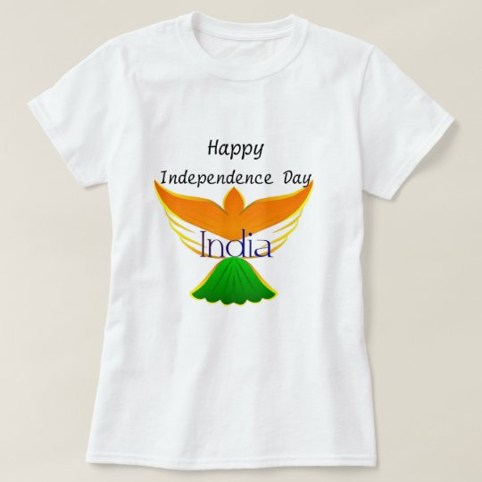 Happy Independence day India (flag on bird art)