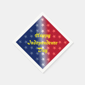 Happy Independence Day Paper Serviettes