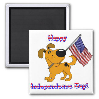 Happy Independence Day! Square Magnet