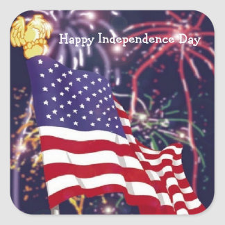 Happy Independence Day - Square Sticker