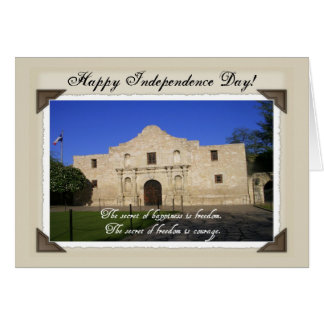 Happy Independence Day-The Alamo Greeting Card