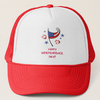 Happy Indepependence Day Trucker Hat