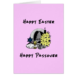 Happy Interfaith Easter and Passover Greeting Cards
