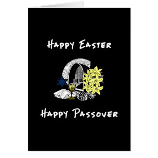 Happy Interfaith Easter and Passover Stationery Note Card