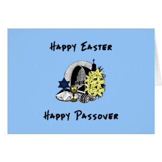 Happy Interfaith Easter and Passover Note Card