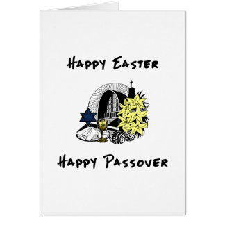 Happy Interfaith Easter and Passover Greeting Card