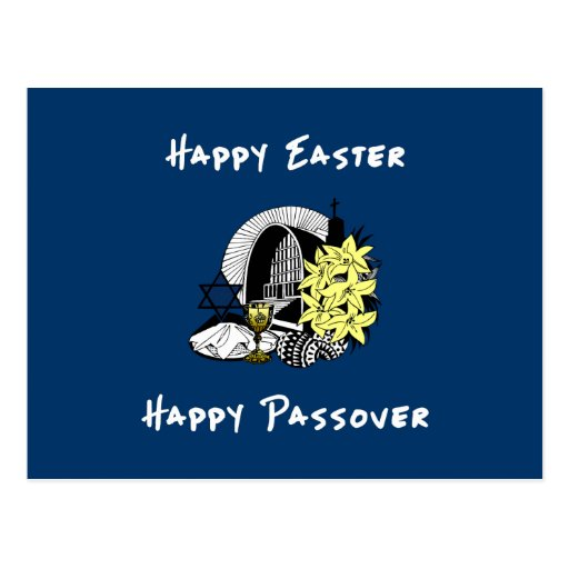 Happy Interfaith Easter and Passover Postcards
