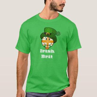Happy Irish Color British Flag in Leprechaun Hat T-Shirt