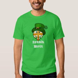 Happy Irish Color British Flag in Leprechaun Hat Tshirts