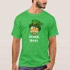 Happy Irish Colour British Flag in Leprechaun Hat T-Shirt