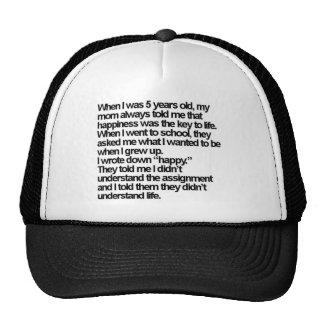 happy is me trucker hat