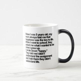 happy is me morphing mug