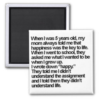 happy is me square magnet