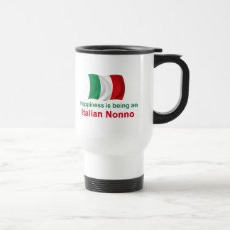 Happy Italian Nonno 15 Oz Stainless Steel Travel Mug