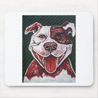 HAPPY ITALIAN PITBULL MOUSE PAD