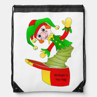 Happy jack in the box drawstring backpack