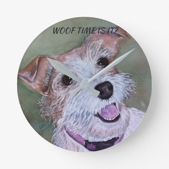 HAPPY JACK RUSSELL ROUND CLOCK