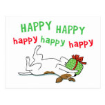 Happy Jack Russell Terrier Christmas Dog Postcard