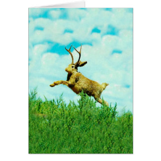 Happy Jackalope Card
