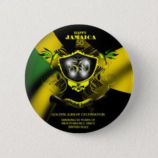 Happy Jamaica 50 Button
