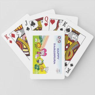 Happy Japanese radish village tramp Poker Deck