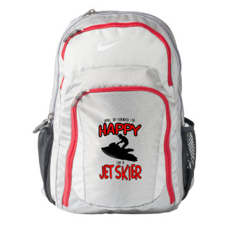HAPPY JET SKIER (black) Backpack
