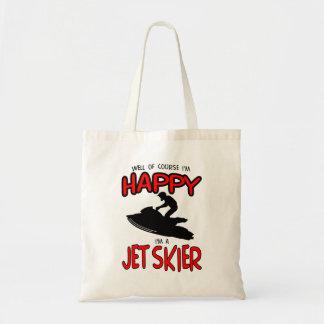 HAPPY JET SKIER (black) Tote Bag