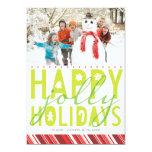 Happy Jolly Holiday Photo Card Invitations