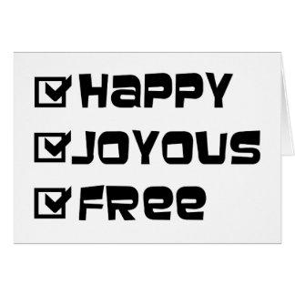 Happy Joyous Free Greeting Card