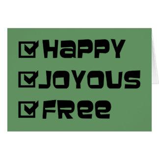 Happy Joyous Free Note Card
