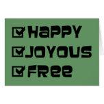 Happy Joyous Free Stationery Note Card