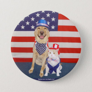 Happy July 4th!! 7.5 Cm Round Badge