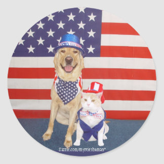 Happy July 4th! Classic Round Sticker
