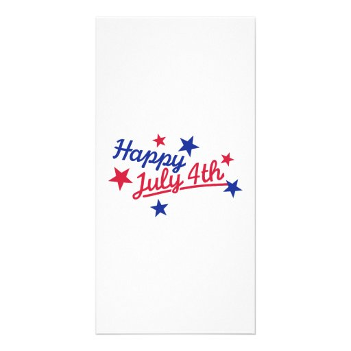 Happy July 4th Independence Day Personalized Photo Card
