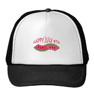 HAPPY JULY FOURTH MESH HAT