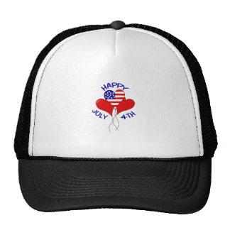 HAPPY JULY FOURTH HATS