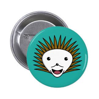 Happy Kawai HedgeHog 6 Cm Round Badge