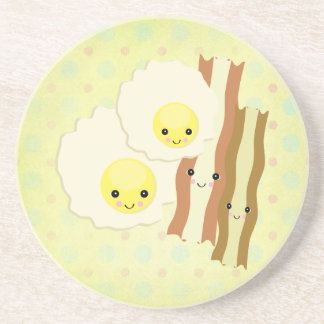 happy kawaii  breakfast coaster