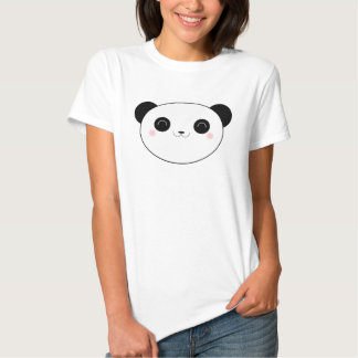 Happy Kawaii Panda Bear Ladies Tshirts
