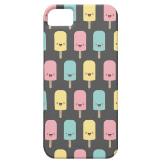 Happy Kawaii Popsicle Ice Lolly Pattern Barely There iPhone 5 Case