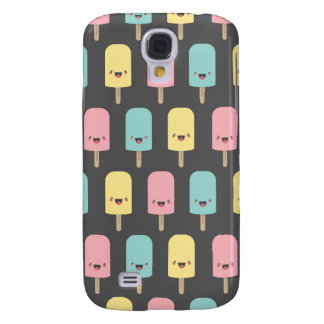 Happy Kawaii Popsicle Ice Lolly Pattern Galaxy S4 Case