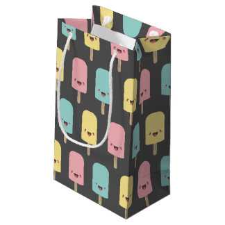 Happy Kawaii Popsicle Ice Lolly Pattern Small Gift Bag