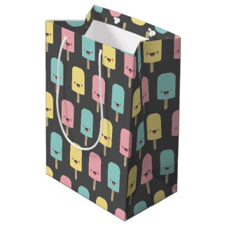 Happy Kawaii Popsicle Ice Lolly Pattern Medium Gift Bag