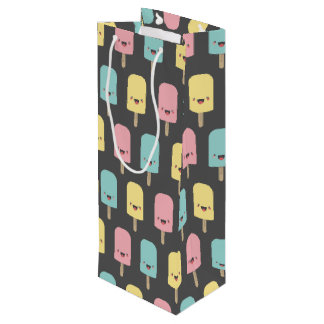 Happy Kawaii Popsicle Ice Lolly Pattern Wine Gift Bag